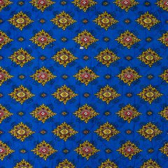 Quilted Fabric from Provence Design Calisson Blue