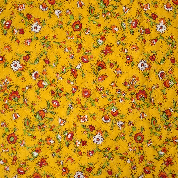 Quilted Fabric from Provence Design Calisson Yellow