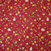 Quilted Fabric from Provence Design Calisson Red