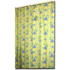 Shower Curtain Raisin Yellow and Blue