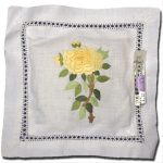 Lavender Pillow Sachet Yellow Rose