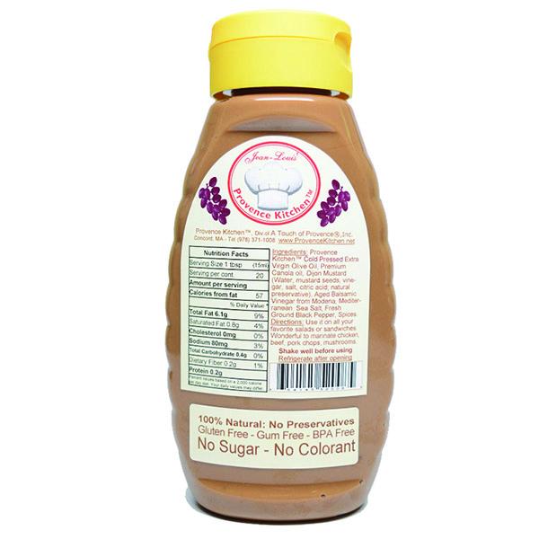 Salad Dressing Balsamic Vinegar - All Natural from Provence Kitchen® (Backside)