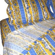 Bedding Sheets Manosque Blue and Yellow