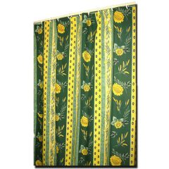 Shower Curtain Uzes Green and Yellow