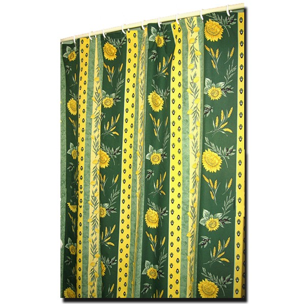 yellow and teal shower curtain. Shower Curtain Uzes Green and Yellow  Collection A Touch of Provence