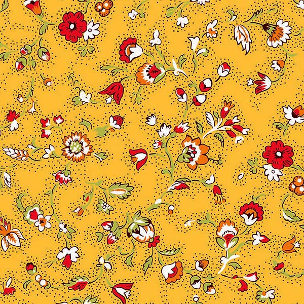 Fabric by the Yard Yvette Design Yellow