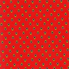 Fabric by the Yard Magalie Design Red