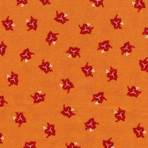 Fabric by the Yard Muscadet Design Rust