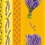 Fabric by the Yard Lavender Design Yellow