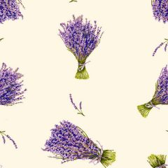 Fabric by the Yard Lavender Design Off White Coordinate