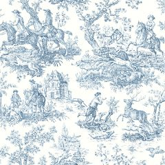 Fabric by the Yard Toile de Jouy Blue Extra Large