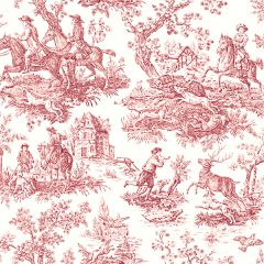 Fabric by the Yard Toile de Jouy Red Extra Large