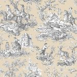 Fabric by the Yard Toile de Jouy Off White Extra Large Fabric by the Yard Toile de Jouy Off White Extra Large