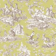 Fabric by the Yard Toile de Jouy Green Extra Large